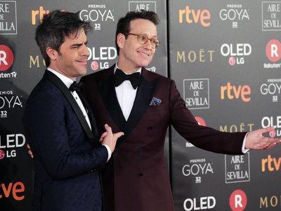 La pareja con más estilo: Joaquín Reyes y Ernesto Sevilla en los premios Goya 2018