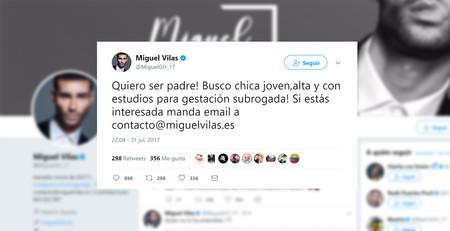 """""""Alta y con estudios"""": el anuncio """"vendo Opel Corsa"""" de un famoso de GH buscando una gestante para su bebé"""