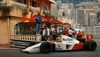 Homenaje a Senna en Mónaco