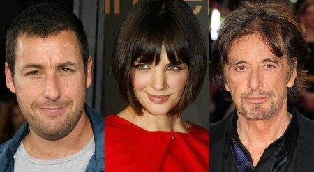 Adam Sandler, Katie Holmes y Al Pacino en 'Jack and Jill'