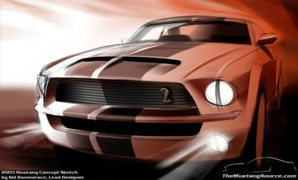 Shelby Mustang Sketch