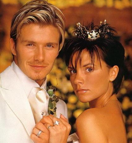 Los Beckham planean casarse de nuevo