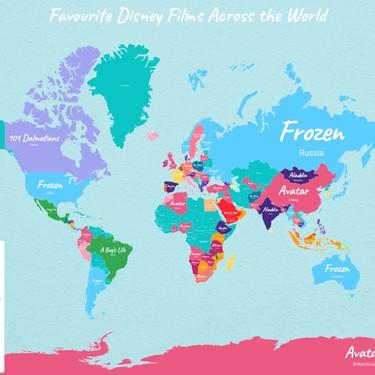 'Frozen' es la película de Disney favorita en buena parte del mundo: así son las preferencias por países de otros clásicos de Disney