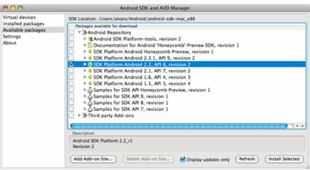 SDK aplicación ANDROID