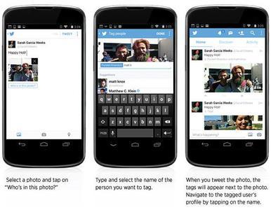 Ya puedes etiquetar en imágenes desde Twitter para Android