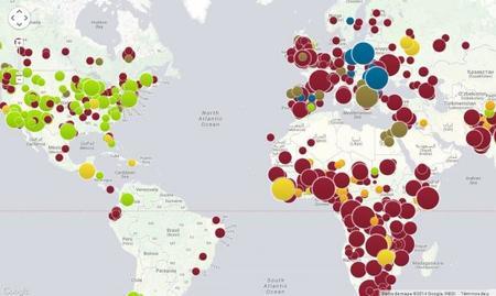 Un mapa mundial muestra los brotes de enfermedades que podrían controlarse con las vacunas