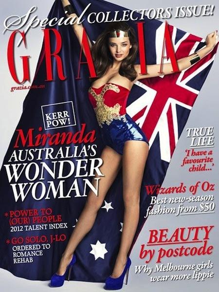 Quién quiere a Wonder Woman teniendo a Miranda Kerr como heroína...