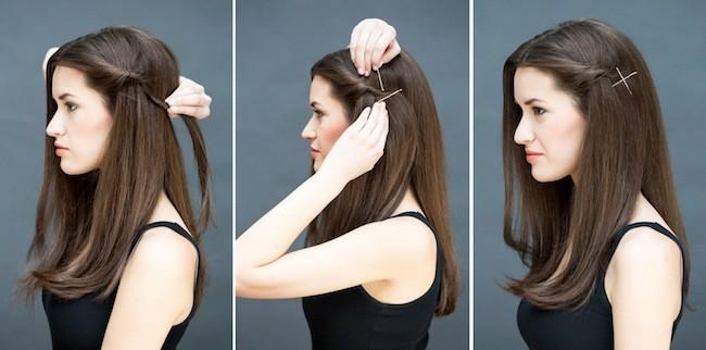 peinados faciles media melena lisa