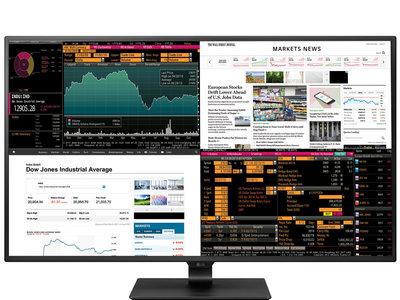 El nuevo y enorme monitor 4K de LG nos dejará usar hasta cuatro dispositivos y verlos al mismo tiempo