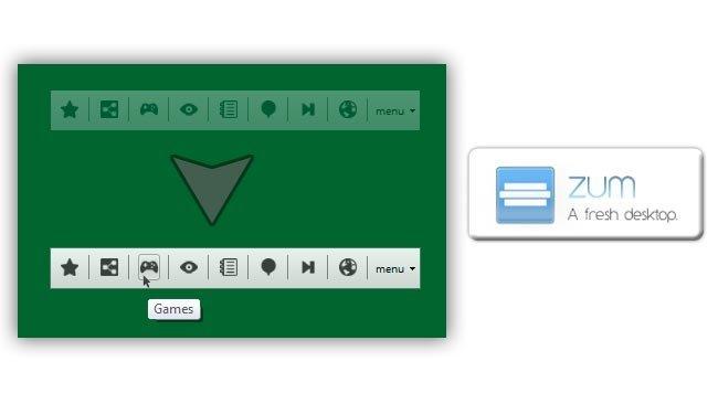 Zum: Lanzador de apilcaciones minimalista