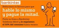 Hasta 50% de descuento en consumo para nuevos usuarios de Bankinter Móvil