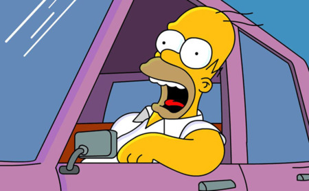 Homer J. Simpson al volante
