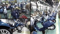 Fabricando la Vespa Sprint 125cc 2014
