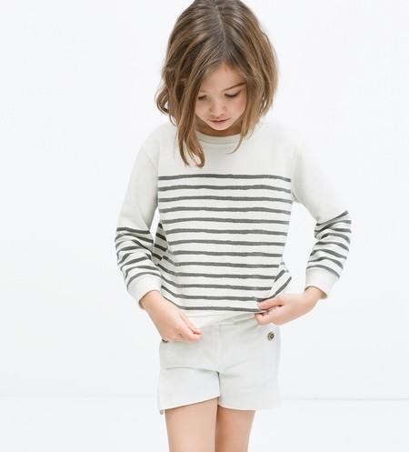 Sudadera Blanco Y Negro Zara Kids