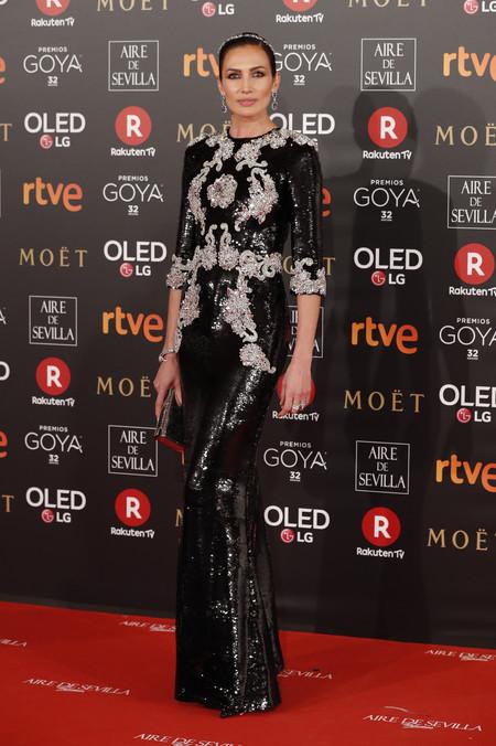 Alfombra Roja Goya 2018 Nieves Alvarez Dolce Gabbana Alta Moda