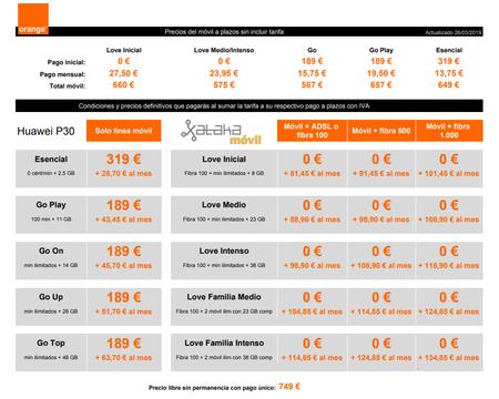 Precios Huawei P30 Con Pago A Plazos Y Tarifas Orange