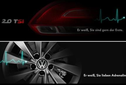 Teaser del Volkswagen Scirocco