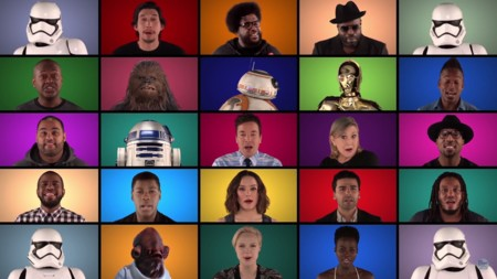 Las estrellas de 'Star Wars: El despertar de la fuerza' tararean la música de John Williams en un divertido homenaje
