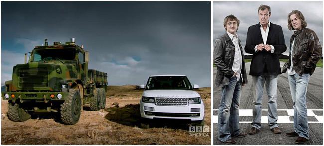 Top Gear destrozó once llantas probando el nuevo Range Rover