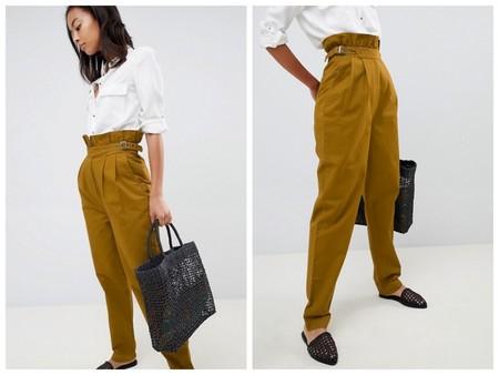 Pantalones Paper Bag