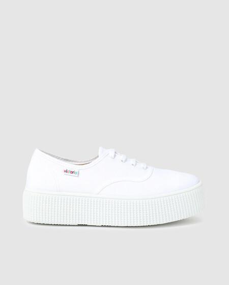 Zapatillas Lona Victorias Blanca