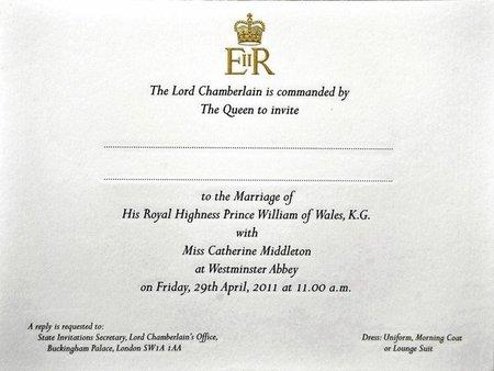 Aunque no nos hayan invitado, ya tenemos la invitación de boda William y Kate