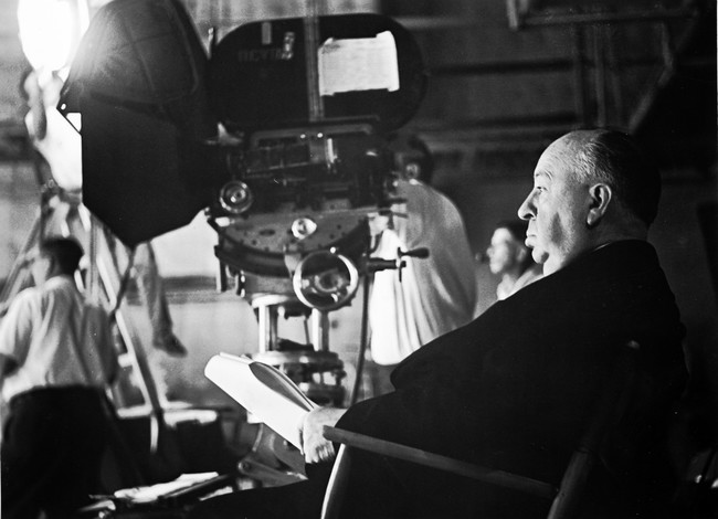 Alfred Hitchcock On Set