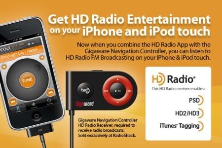 Gigaware ofrece HD Radio para el iPhone