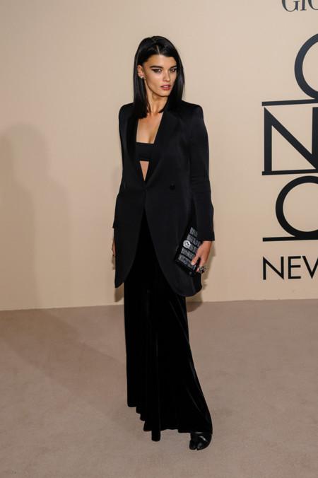 La modelo Crystal Renn en la fiesta One Night Only de Giorgio Armani en Nueva York, Octubre 2013
