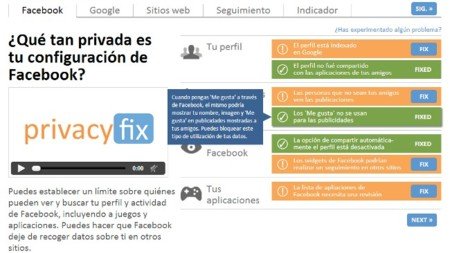 Visualiza un informe sobre tu privacidad con Privacyfix