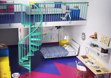 Originales habitaciones juveniles que tienen entre sus - Habitaciones ninos originales ...
