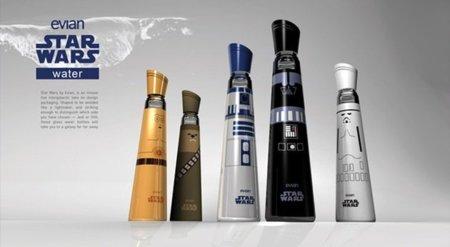 A Evian le queda de lujo el agua embotellada de Star Wars