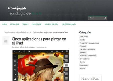 Tecnología de tú a tú, nueva colaboración de Weblogs SL sobre tecnología para El Corte Inglés