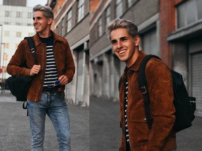 La chaqueta de suede triunfa como el must have de la moda en las calles este otoño