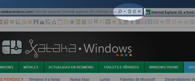 Controles de Internet Explorer 9