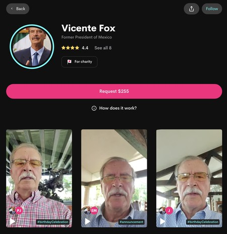 Vicente Fox Cameo App
