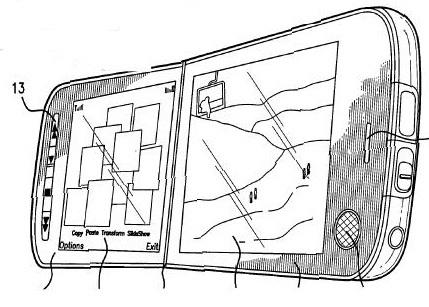 Patente de Nokia para un teléfono con pantalla doble y táctil