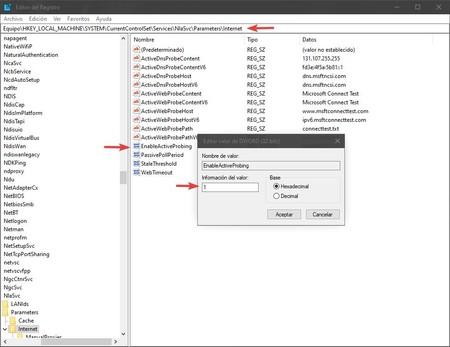 Modificar Registro Windows