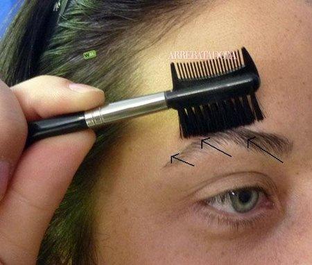 Cómo se cepillan las cejas para que queden positivas