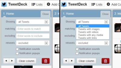 Twitter por fin vuelve a traer los filtros por columna a Tweetdeck