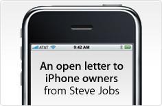 Carta abierta de Steve Jobs a los compradores de iPhone
