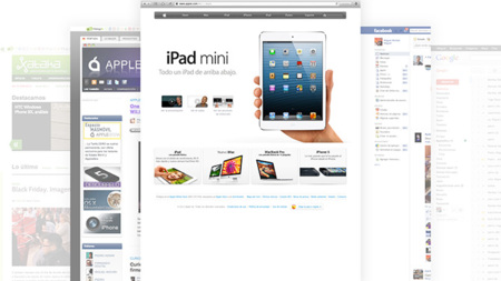 Safari 7 en OS X 10.9 (mockup)