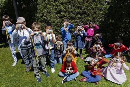 Taller de fotografía para niños en octubre en la tienda de National Geographic de Madrid
