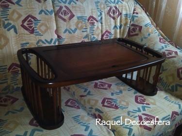 Un clásico accesorio de sofá para el portátil