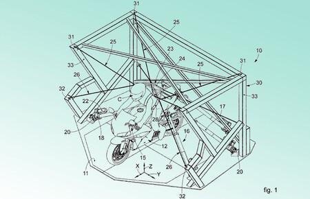 Los simuladores de conducción de moto serán algo más que videojuegos si esta patente se hace realidad