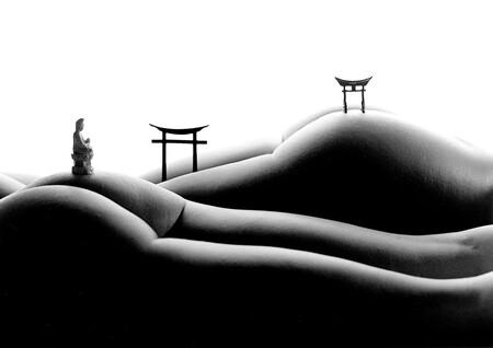 'Bodyscapes', cuando el cuerpo humano se convierte en el marco ideal donde recrear paisajes o escenas cotidianas, por Allan Teger
