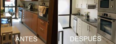 El antes y después de esta cocina nos enseña que es posible estrenar cocina sin hacer largas y molestas obras