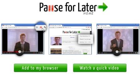 Pause for later, un servicio para seguir viendo tus vídeos desde donde los has pausado
