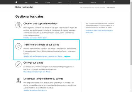 Transferir Una Copia De Tus Datos Icloud