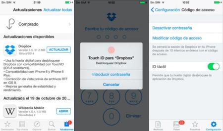 Dropbox Touch Id